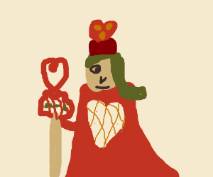 Green-haired Queen of Hearts