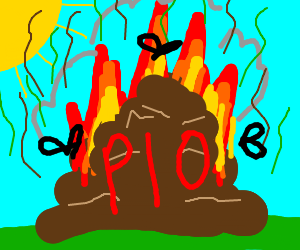 Your last drawing + fire, PIO