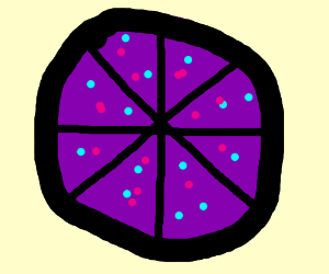 purple pizza; habe does not equal word