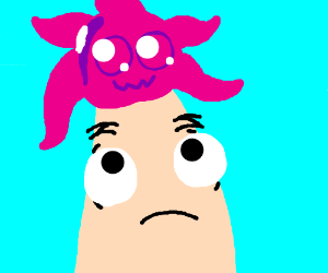 Patrick star has a pink thing on his head