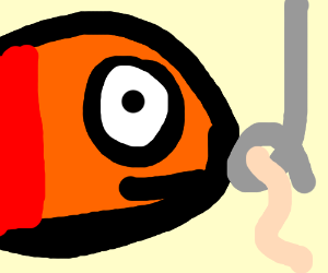 Fish is not impressed by worm.