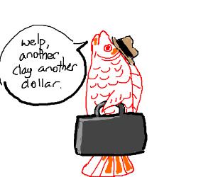 Swedish fish going to work