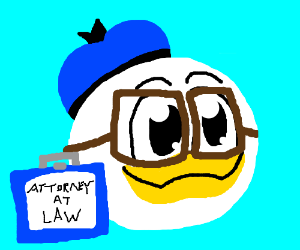 Donald Duck the lawyer