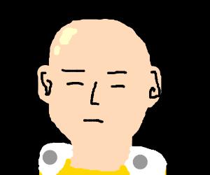 Premature balding man is depressed