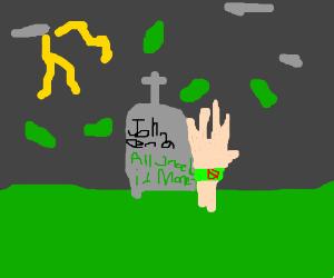 john cenas tombstone says all u need is cash