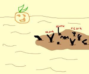 Orange Man Is Happy that Others Need HelpCCSTK