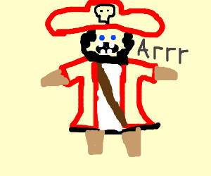 Pirate With Peg Legs For All Arms and Legs