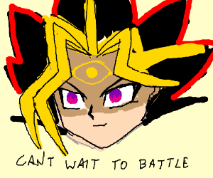 Yugi can't wait for DUEL