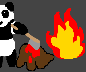 Panda Displays His Next Murder By Fire