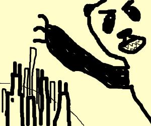 panda destroys city