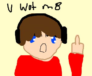 """U wot m8"" Xbox user raises middle finger"