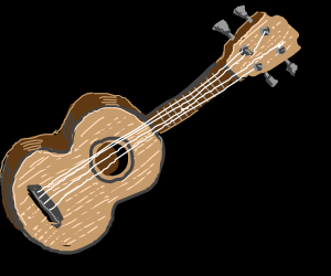 a small guitar with four strings drawception. Black Bedroom Furniture Sets. Home Design Ideas