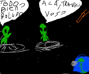 aliens speaking alien language