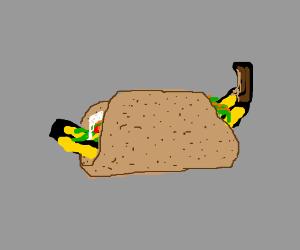 A banana taco