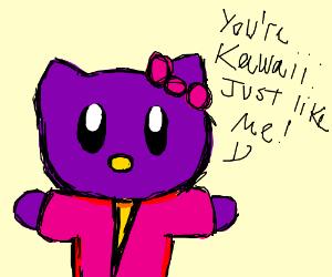 Purple Kitty thinks you're kawaii