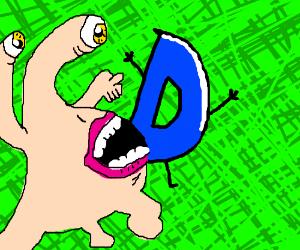 Parasite consuming the Drawception D