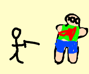 Stickman just a killed a normal guy