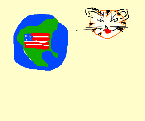 America Planet and Leopard moon.