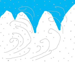 snow blows white on the mountain tonight