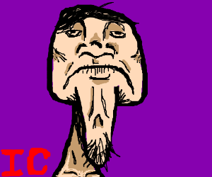 man with incredibaly droopie chin skin