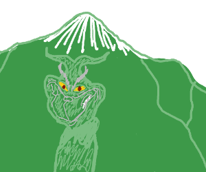 green scary mountains acts as the grinch
