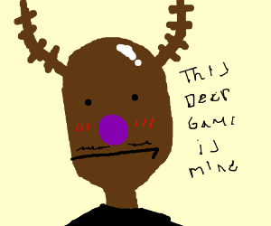 Purple nosed reindeer