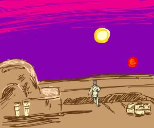 Binary Sun from Tatooine (Star Wars)