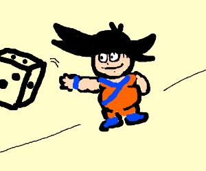 Goku rolls a die