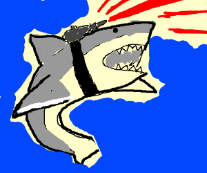 Sharks with frickin lasers atatched to heads!