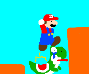 how to jump off yoshi in super mario world