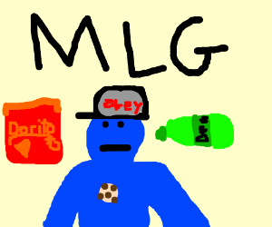 Rainbow Colored Cookie Monster Eats Dorito Woah Drawing By Mlg