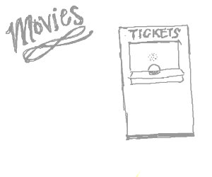 how to draw a movie ticket
