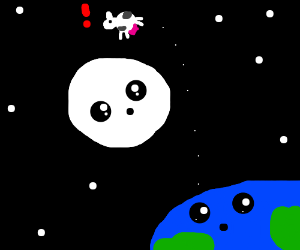 A cow jumped over a jumping moon