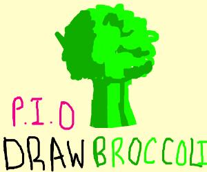 Draw Broccoli pio