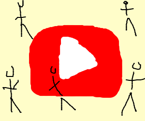 A youtuber holding a reparationsbajer