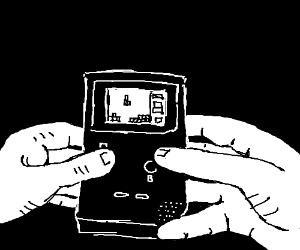 Playing Tetris on an old school Game Boy