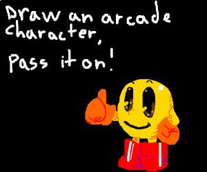 Draw an Arcade character PIO
