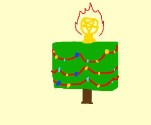 Square Christmas tree