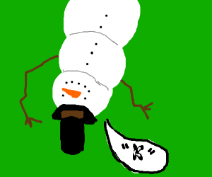 upside down snowman says k drawing by iWubs - Drawception