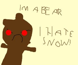 Bear hates winter