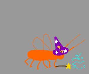 Orange roach is a wizard