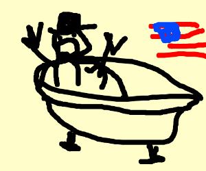 William Howard Taft Stuck In The Bathtub Drawception