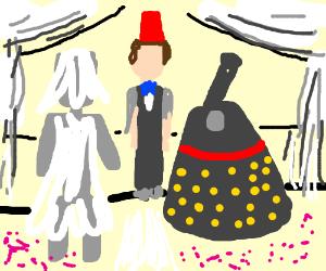 Cyberwoman (or man?) marries Dalek.