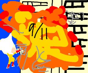 Saitama(one punch man) did 9/11