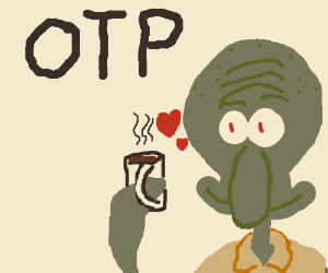 Squidward X Coffee Cup OTP
