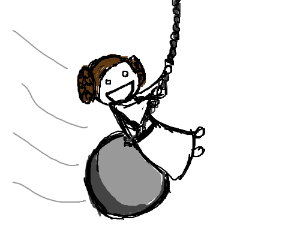 Leia came in like a wrecking ball!