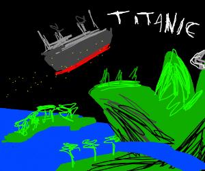 Titanic flying scene