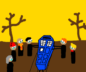A Dr. Who themed funeral