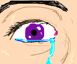 Crying purple eye