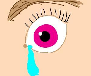 Sad violet eyeballs